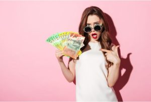 Cash Flow Lady In Pink